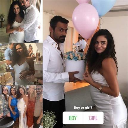 अर्जुन रामपाल ने रखी प्रेग्नेंट गर्लफ्रेंड के लिए बेबी शॉवर पार्टी,...