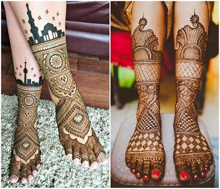 हाथ ही नहीं, पैरों के लिए भी चूज करें लेटेस्ट Henna Mehndi Designs