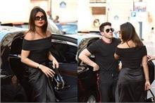प्रियंका की Black Dress से फैंस हुए इंप्रेस, निक भी दिखे...