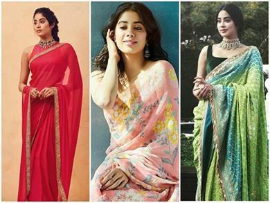 Girls Fashion: जाह्नवी की तरह ट्राई करें साड़ी, देखिए 7 डिफरेंट स्टाइल
