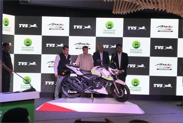 TVS Apache RTR 200 इथेनॉल भारत में लॉन्च, कीमत 1.2 लाख रुपए
