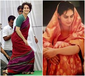 #SareeTwitter: प्रियंका ने शेयर की साड़ी में फोटो तो लोगों...