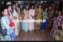 परांदी, फुलकारी के साथ इंडियन ड्रेसअप में लेडीज ने मनाया...