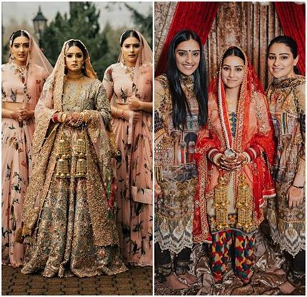 Inspired Fashion: वेडिंग की मैचिंग ड्रेसेज पहन कर 3 बहनों ने सेट किया...
