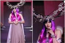 LFW: ड्रेस से ज्यादा अदा शर्मा के अजीबोगरीब क्राउन ने बटौरी...
