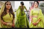 Real Brides: अब ब्राइडल लहंगे में भी छाया लाइम ग्रीन, देखिए तस्वीरें