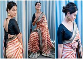 विदेश में नहीं भूली हीना खान भारतीय संस्कार, देसी पहरावे...