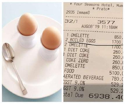 पहले केले तो अब अंडों के बढ़े रेट, होटल वालों ने बनाया 1700 रुपए का...