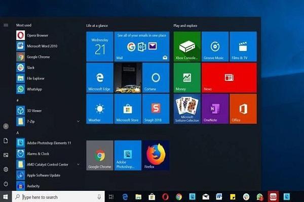 Microsoft Windows 10 अपडेट में आया नया बग , स्टार्ट मेन्यू हो रहा ब्रेक