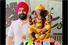 10 दिन में हरजिंदर सिंह ने बनाए 100 KG चॉकलेट के गणेश जी