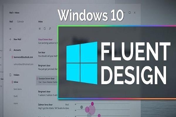 Windows 10 फ़्लूएंट डिज़ाइन के तहत कलरफुल आइकन्स होंगे शामिल