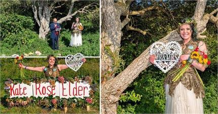 34 साल की महिला ने पेड़ ही रचाई शादी, जानिए क्यों?