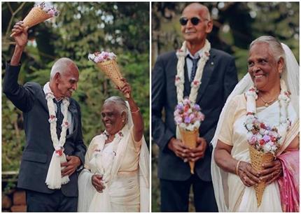 So Cute! शादी के 58 साल बाद दूल्हा-दुल्हन बने दादा-दादी, करवाया...