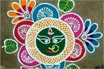 नवरात्रि स्पैशलः रंगोली के 10 खूबसूरत डिजाइन्स
