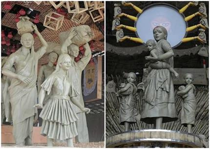 माता दुर्गा नहीं, इस बार 'मजदूर मां' को समर्पित कोलकाता का पूजा पंडाल