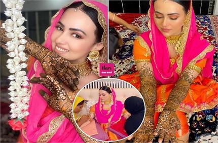 सना खान के हाथों में रची पिया के नाम की मेहंदी, निकाह के बाद सामने आई...