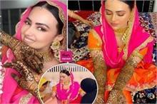 सना खान के हाथों में रची पिया के नाम की मेहंदी, निकाह के...