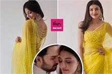 शादी के बाद सामने आई काजल की सगाई की तस्वीरें, Yellow Saree...