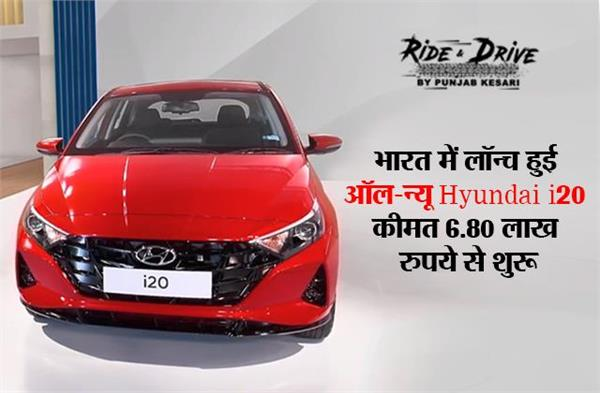 भारत में लॉन्च हुई ऑल-न्यू Hyundai i20, कीमत 6.80 लाख रुपये से शुरू