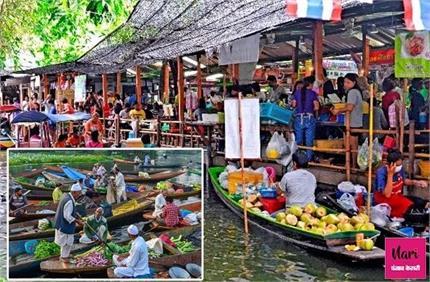 खूबसूरती का खजाना! क्या आपने कभी देखें है पानी में तैरते हुए बाजार?