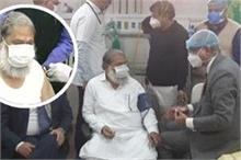 हरियाणा के स्वास्थ्य मंत्री ने लगवाई कोरोना वैक्सीन,...