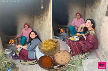 पैतृक गांव पहुंची कीर्ति कुल्हारी, दिवाली पर लिए बाजरे की रोटी के मजे