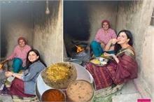 पैतृक गांव पहुंची कीर्ति कुल्हारी, दिवाली पर लिए बाजरे की...