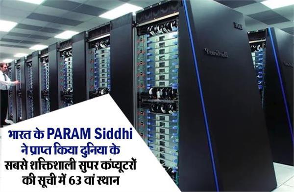 भारत के परम सिद्धि ने प्राप्त किया दुनिया के सबसे शक्तिशाली सुपर कंप्यूटरों की सूची में 63वां स्थान