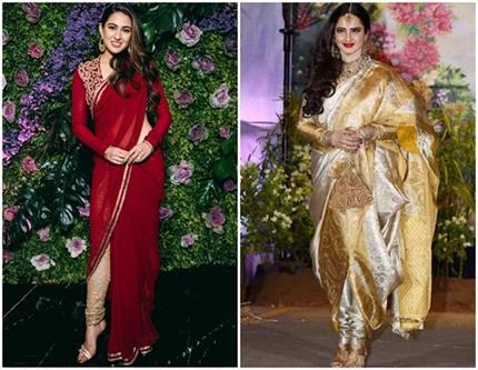 रेखा ही नहीं, बॉलीवुड की ये हसीनाएं भी पहनती हैं सिर्फ देसी पहरावा!