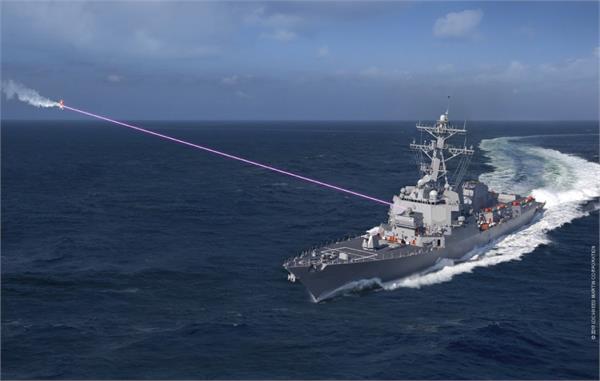 अमरीकी नौसेना की नई तकनीक, शुरू किया पहला एंटी ड्रोन लेज़र डैज़लर वैपन