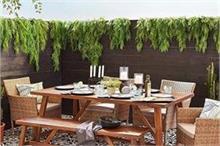 फर्नीचर के साथ आउटडोर गार्डन को दें खास लुक (See Pics)