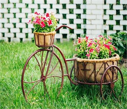 घर में पड़ा पुराना साइकिल गार्डन को देगा परफेक्ट लुक (See Pics)