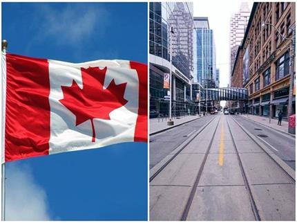 कोरोना के डर से सुनसान हुआ Canada