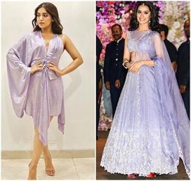 कैसी भी हो ड्रेस क्लासी लगने के लिए पहने Lavender कलर