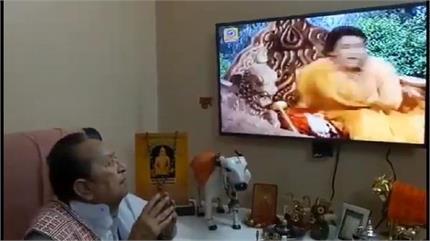 सीता हरण देख भावुक हुए रामायण के 'रावण' ,एपिसोड देख जोड़े हाथ