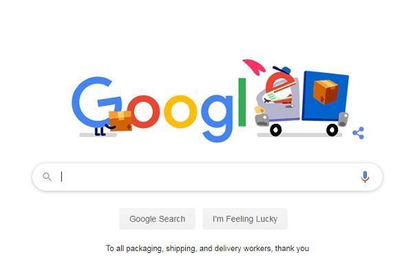 गूगल ने डूडल के जरिए किया पैकेजिंग से लेकर डिलीवरी कर्मचारियों तक का धन्यवाद
