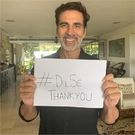 कोरोना वॉरियर्स के लिए अक्षय ने किया #DilSeThankYou, शेयर...