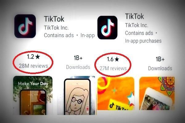 TikTok के लिए Google ने डिलीट कर दिए 50 लाख यूजर्स के रिव्यूः Reports