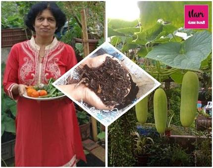 Amazing: बिना मिट्टी 10 सालों से फल-सब्जी उगा रहीं पुणे की यह महिला
