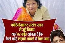 जब बॉलीवुड कोरियोग्राफर सरोज खान ने कहा था, यहां रेप के...