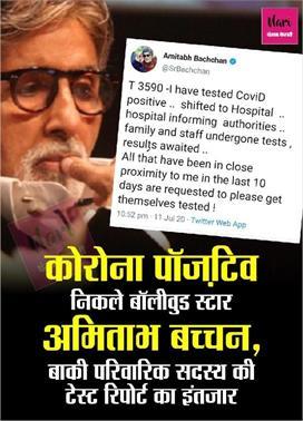 Breaking: अमिताभ बच्चन कोरोना से संक्रमित, मुंबई के...