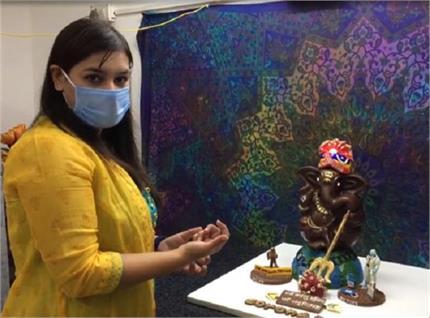 कोरोना काल में गणेश चतुर्थी: चॉकलेट से मूर्ति बना जरूरतमंदों में बांट...