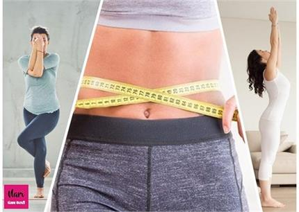 मोटी कमर हो जाएगी पतली, खड़े-खड़े सिर्फ 15 मिनट करें ये 4 योग
