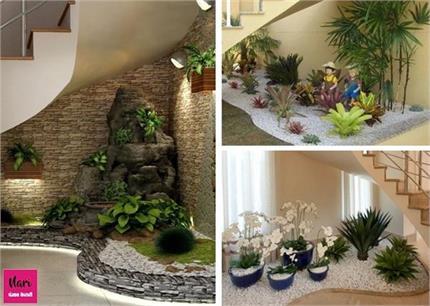 डैकोरेशन के साथ क्रिएटिविटी... सीढ़ियों के नीचे बनाएं मिनिएचर गार्डन