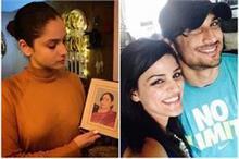 सुशांत की मां की तस्वीर को हाथों में पकड़े दिखीं अंकिता,...
