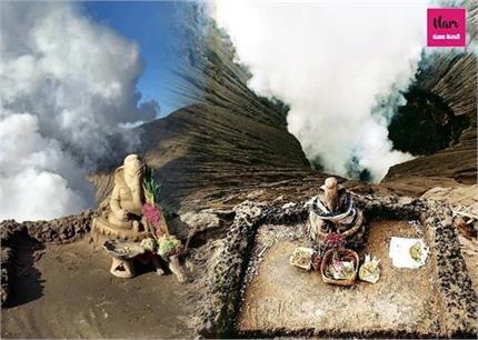 इंडोनेशिया के ज्वालामुखी पर 700 सालों से विराजमान गणपति बप्पा
