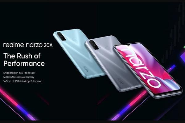 Realme के बजट स्मार्टफोन Narzo 20A की आज आयोजित होगी सेल, कीमत सिर्फ 8,499 रुपये