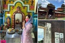 भूमि ने किए 400 साल पुराने मंदिर के दर्शन, बताया अपने सरनेम...