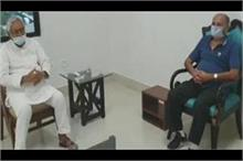 नम आंखें लिए बिहार सीएम नीतीश कुमार से मिले सुशांत के पिता...
