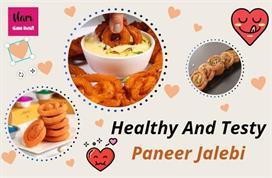 मैदे की नहीं, दशहरे पर बनाकर खाएं Paneer Jalebi